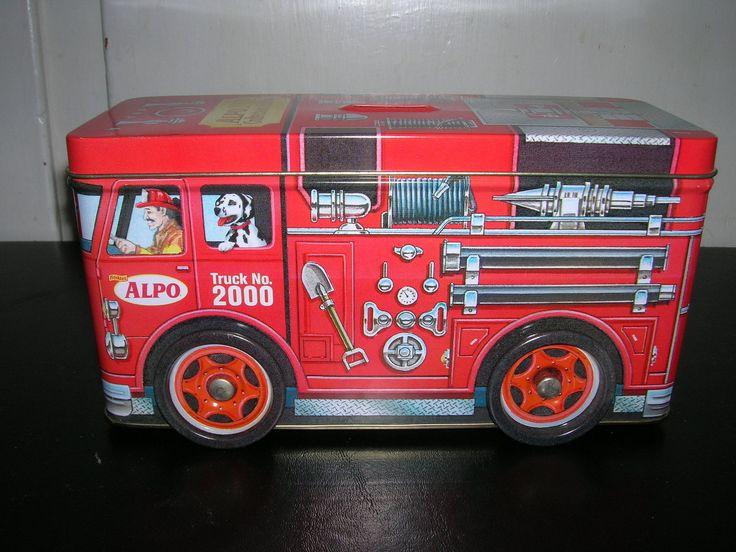 Alpo Millennium Fire Truck scatola di latta