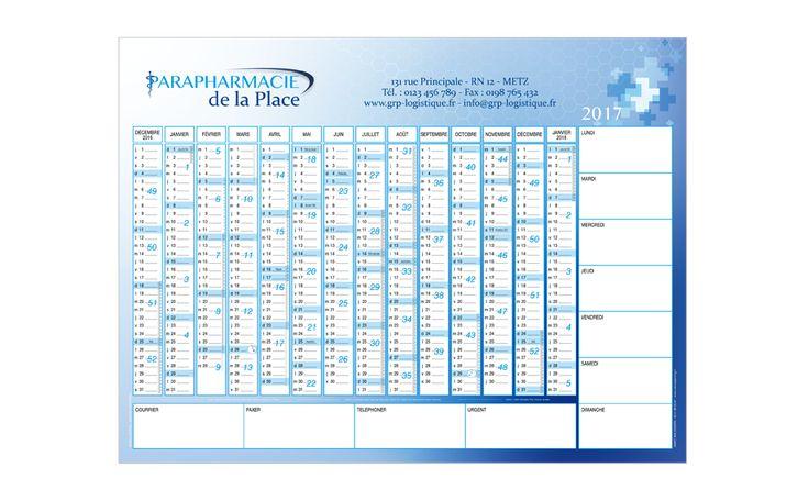 Jamet Communication : Calendrier effaçable - 100% personnalisable - grille calendaire 14 mois + espace notes + jours de la semaine - impression sur support plastique - format : du A4 jusqu'à 1200 X 800 mm