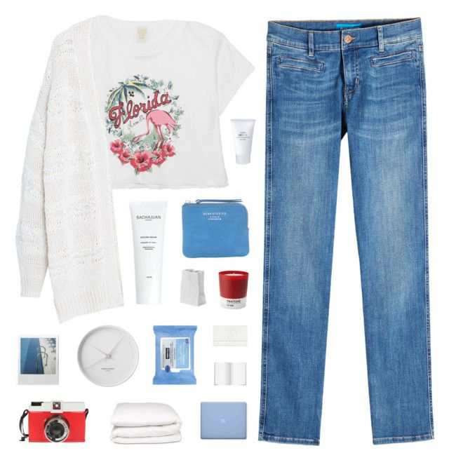 """""""hurley"""" by cnellepoms ❤ liked on Polyvore featuring Anna Sui, Violeta by Mango, M.i.h Jeans, Muji, J.Crew, Acne Studios, Rosenthal, Pantone, Georg Jensen and Neutrogena"""