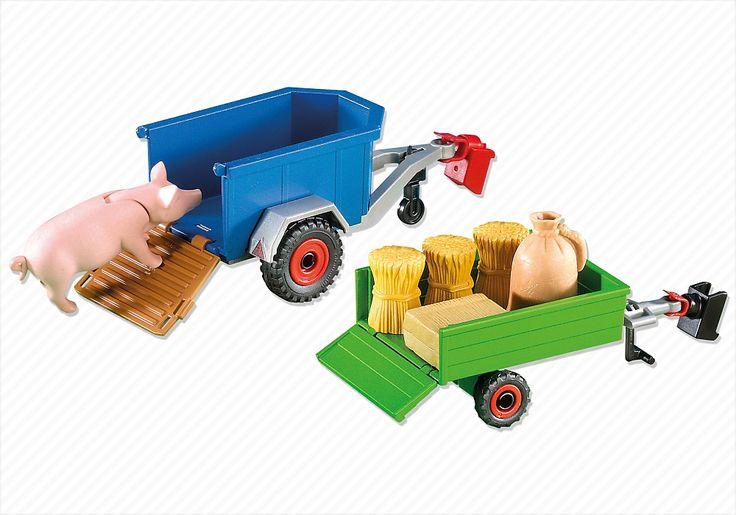 2 remorques de tracteur - 7439 - PLAYMOBIL® Suisse