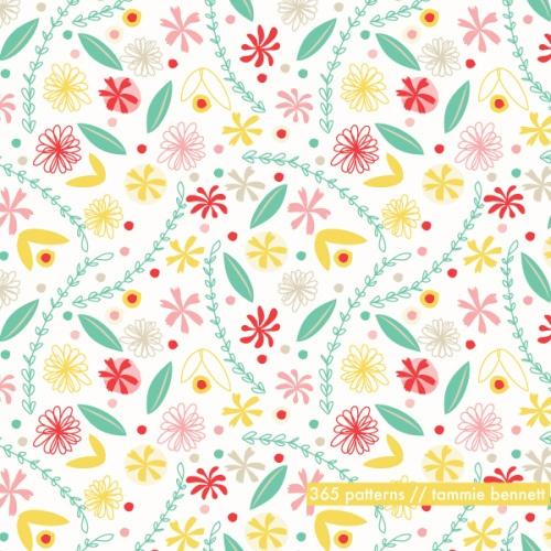 spring flower repeat pattern