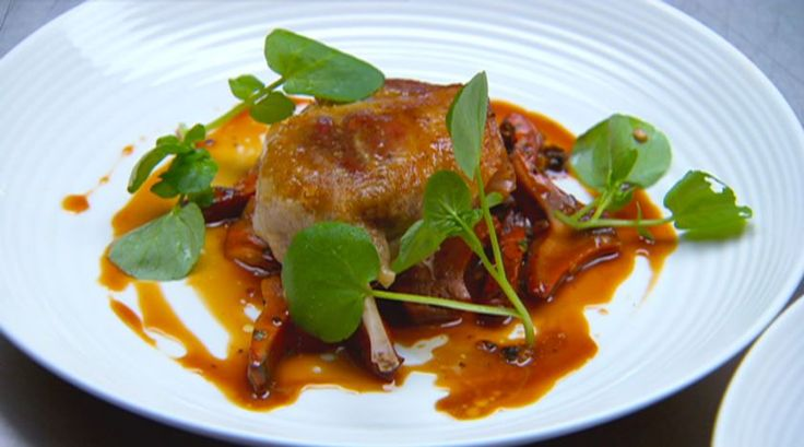 Confit Duck Leg with Pine Mushrooms
