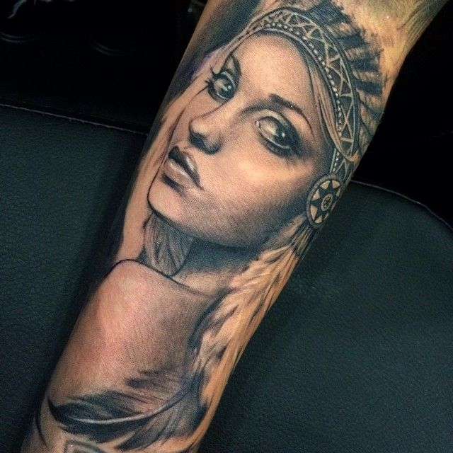 native american girl tattoos - Google Search