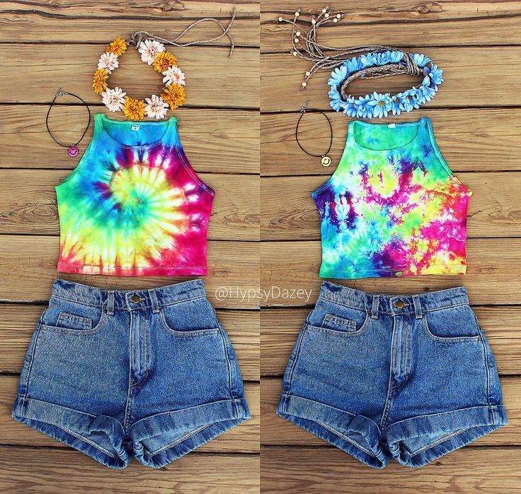 ✌️✨ Check out these #cute #outfits put together with items from our #shop❣ #Featured here are our #FlowerCrowns, #Retro #Smiley #Chokers and BRAND #NEW #Rainbow #TieDye #AmericanApparel #Style #Halter #Crop #Tops ~ AVAILABLE NOW IN 2 DIFFERENT PATTERNS (#highwaisted shorts COMING SOON)! LINK'S IN BIO❣ ✨ || #LA #California #sunshine #boho #hippie #flower #crown #croptop #festival #coachella #tumblr #Etsy #etsyshop
