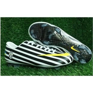 http://www.asneakers4u.com Nike Mercurial Vapor VIII World Cup FG Firm Ground Juventus Zebra Black Nike Football Shoes