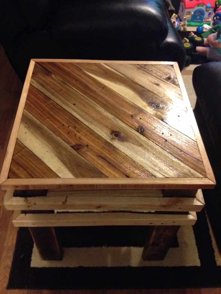 Pallet table   My Pallet Furniture made from recycled pallets   Pinte ...