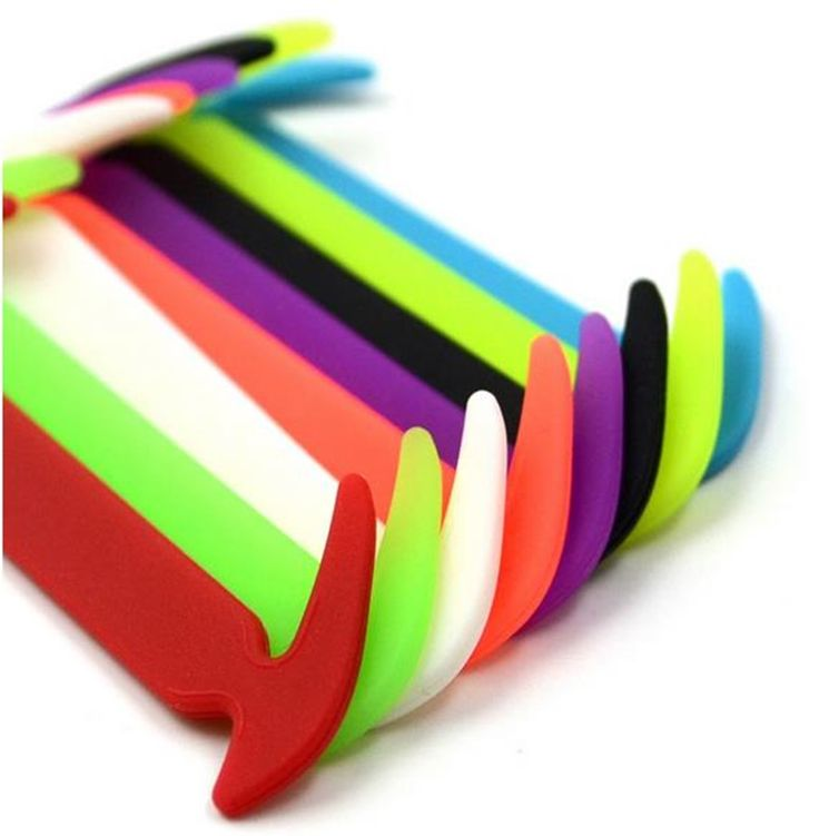 12 Unids/set Moda UnisexShoelaces Silicona Impermeable Elástico Sin Corbata Cordón de Zapato de Diseño Para Una Fácil Extracción y Bloqueo DDSLA1011