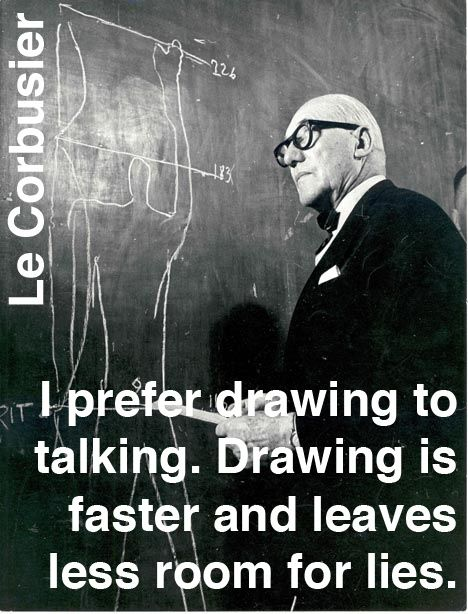 Le Corbusier - one of my early heroes in architecture | sashastergiou:Words of (irreverent) wisdom