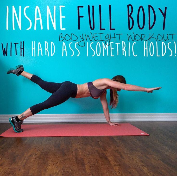Insane Full Body Bodyweight Workout with Hard Ass Isometric Holds! || lushiousLIFTS.com