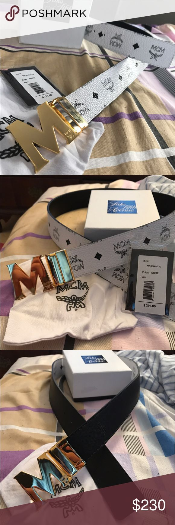 Authentic Reversible MCM Belt BRAND NEW Authentic Reversible Black/White MCM Belt size 30-32.   Comes with box, tags, and dust bag MCM Accessories Belts
