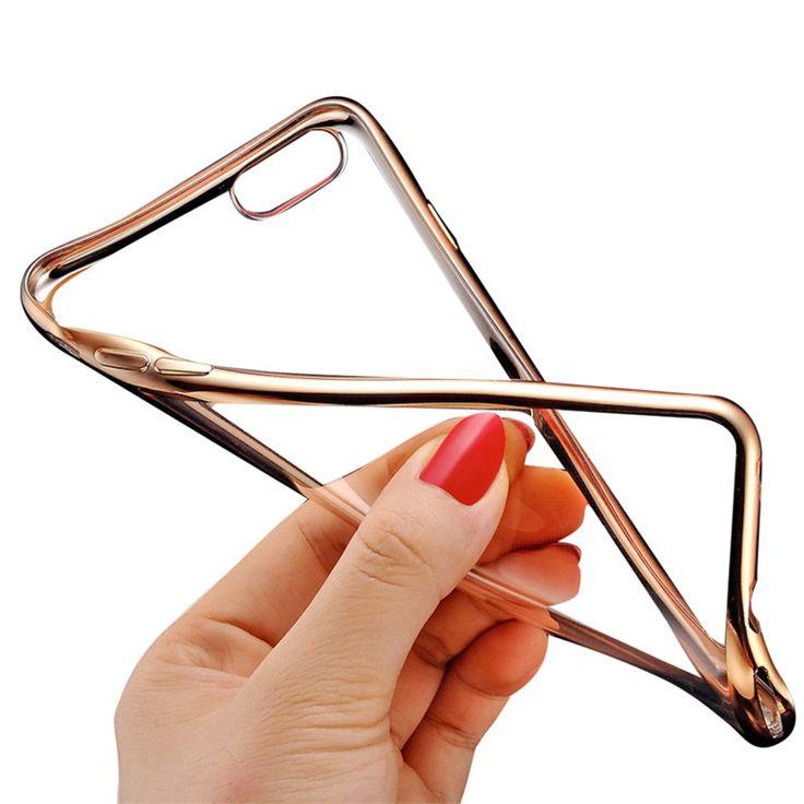 """Case用apple iphone 6 6 s 4.7 """"/6プラス6 sプラス5.5""""ロイヤル高級スタイルメッキ金ぴかtpu電話シリコンソフトバックcaseカバー"""