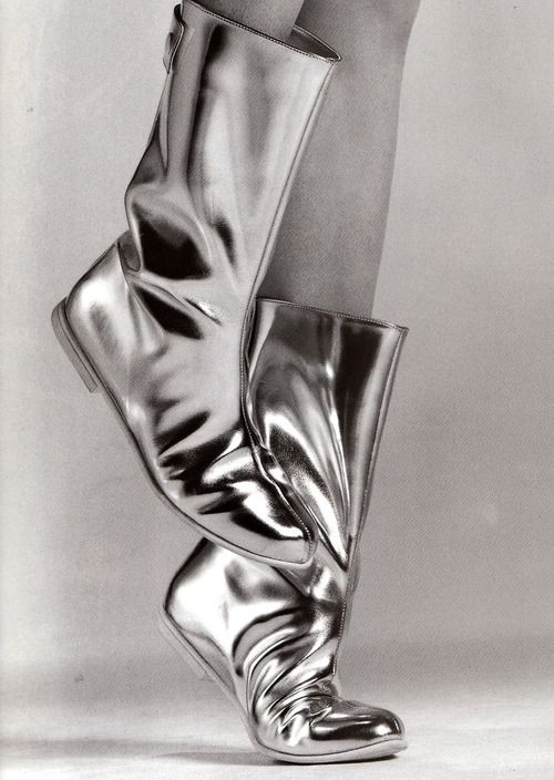 Courrèges boots by Greg Kadel for Vogue Paris