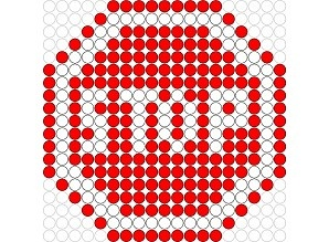 Stop hama perler beads pattern