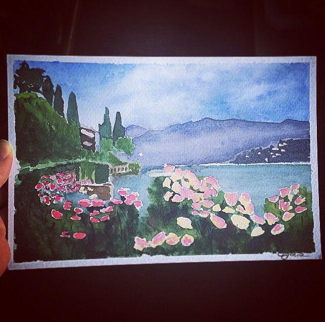 Lago di Como watercolors