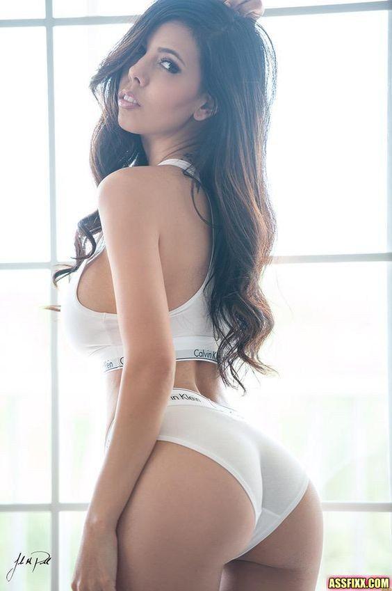 hot brunette in panties