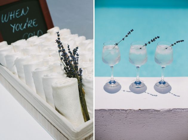 Pashminas for the Guests and Lavender Inspired Welcome Drinks for Guests - Wedding Ideas by Stella And Moscha, Photo by Thanos Asfis