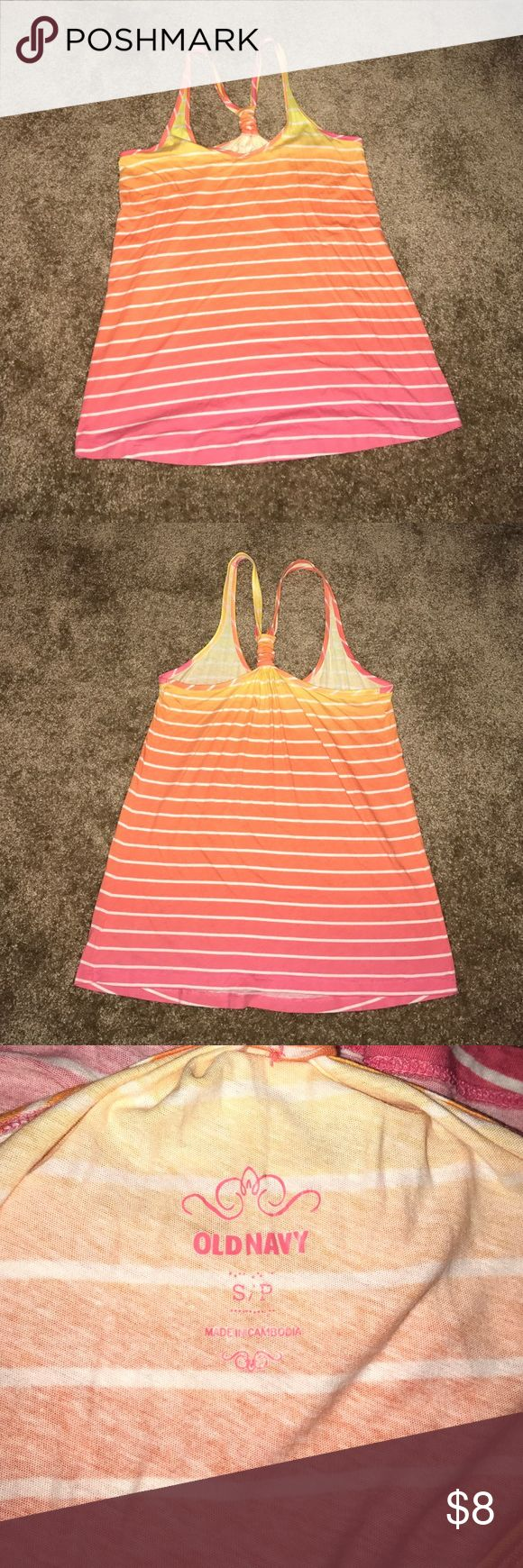 Old navy tank top Brightly colored tank from Old Navy. Very comfortable. Worn a handful of times. Great for summer time. Old Navy Tops Tank Tops