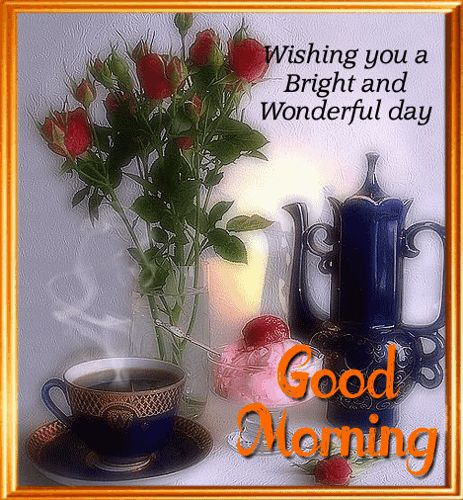 #GoodMorning everyone! Treat your loved ones with #coffee & sweet wishes this morning with this #ecard.