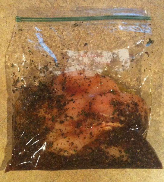 Italian Chicken Marinade - simplest marinade ever, and it's a great idea to freeze the raw chicken right in the marinade! Then, you can just pull out a baggie and thaw when you need it. Instant flavorful chicken! Use the Italian seasoning, or any Phase 3 or H-Burn seasonings you like here.