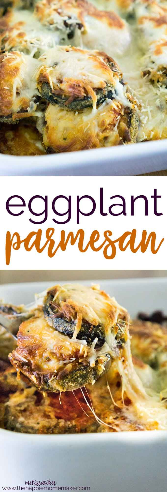 Eggplant Parmesan is a hearty, healthy vegetarian dish that perfect for entertaining