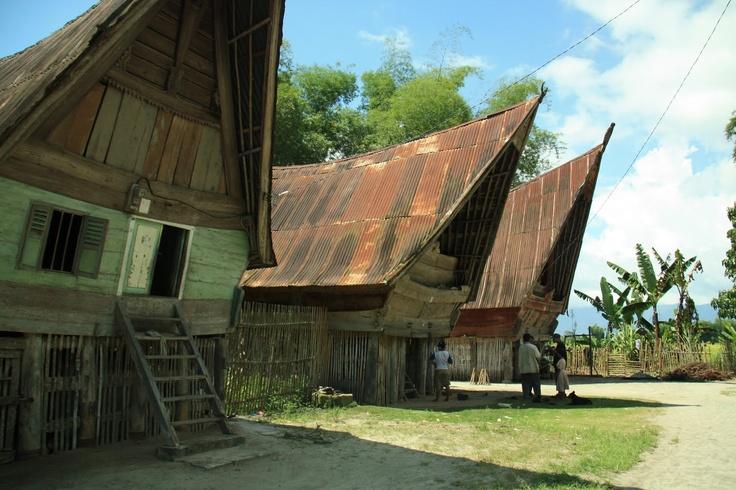 Rumah Adat Batak North Sumatra, Indonesia