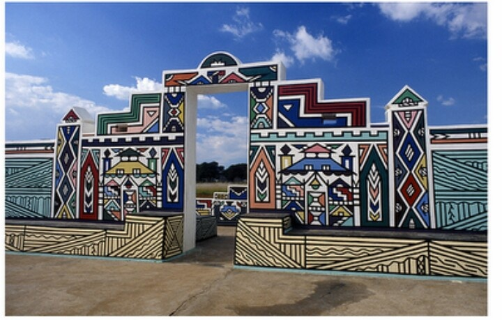 Ndebele painted houses