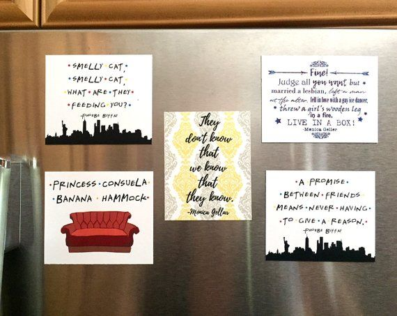 Friends Magnetic Poetry  Fridge Magnets  Friends TV Show Quotes  Friends Show Gift  Ross and Rachel  Housewarming Gift  Friends Office