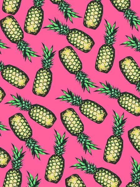 Pineapple Pattern Art Print by Georgiana Paraschiv   Society6