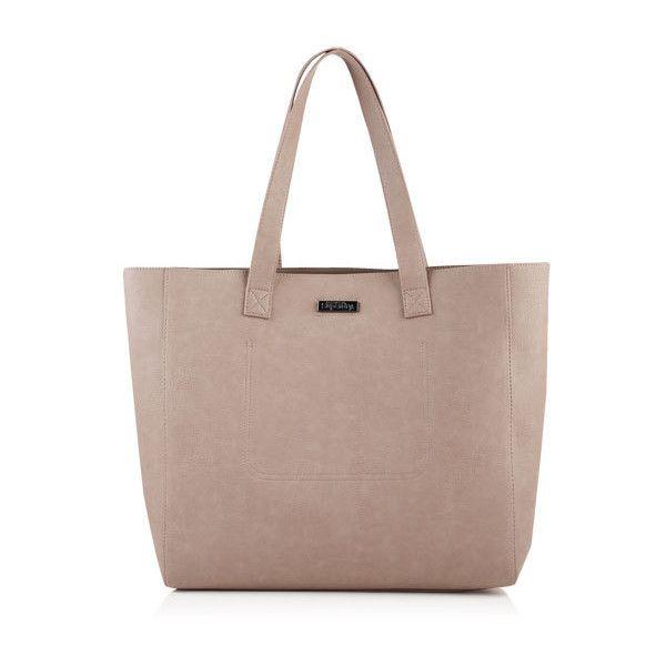 Superdry Amelia Tote Bag ($55) ❤ liked on Polyvore featuring bags, handbags, tote bags, beige, brown tote, brown purse, zippered tote bag, beige handbags and zip tote bag