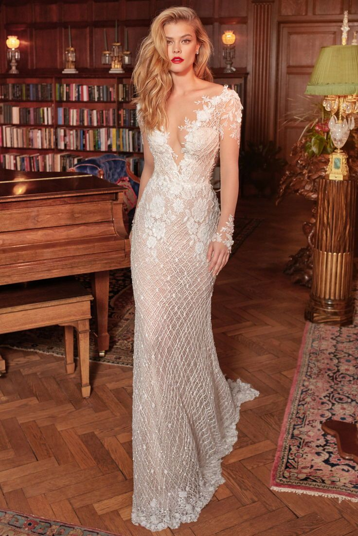 The Rhiannon Galia Lahav Wedding Dress Is A Thing Of Beauty With Its Unique Sheer Long Sl Wedding Dress Long Sleeve Wedding Dresses Galia Lahav Wedding Dress