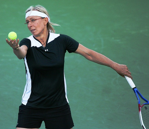 MARTINA NAVRATILOVA A Czech tennis player with one of the most impressive reputa…