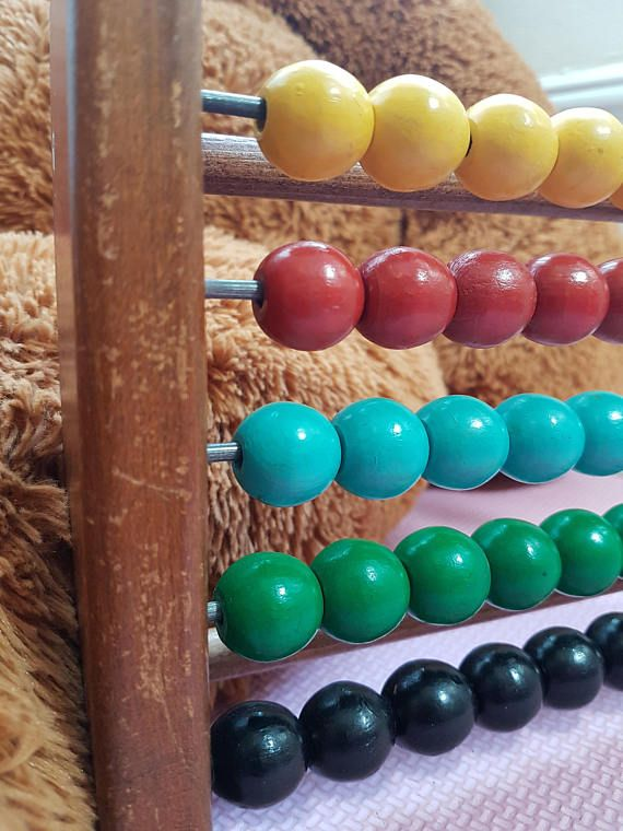 Vintage wood abascus for kids classic wooden abacus with