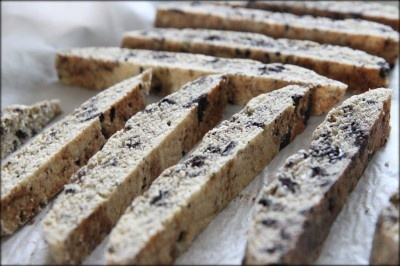 Oreo Cookie Biscotti- a great holiday gift to give from MomAdvice.com.
