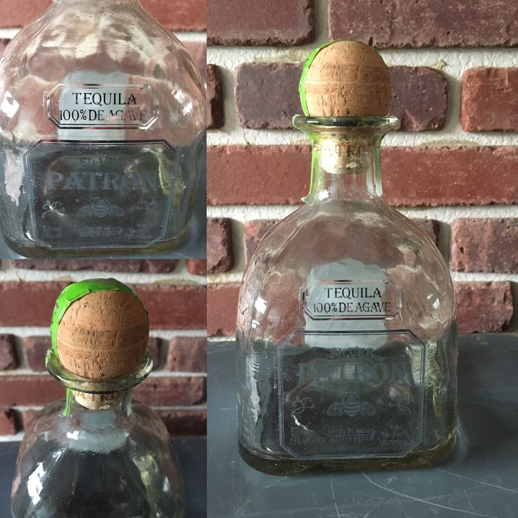 Patron Silver Tequila Bottle with cork $11.00