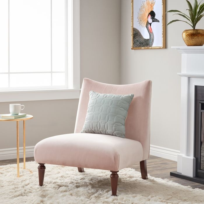 1001 Exemples Inspirants Pour Une Deco Rose Poudre Living Room Chairs Furniture Living Room Furniture