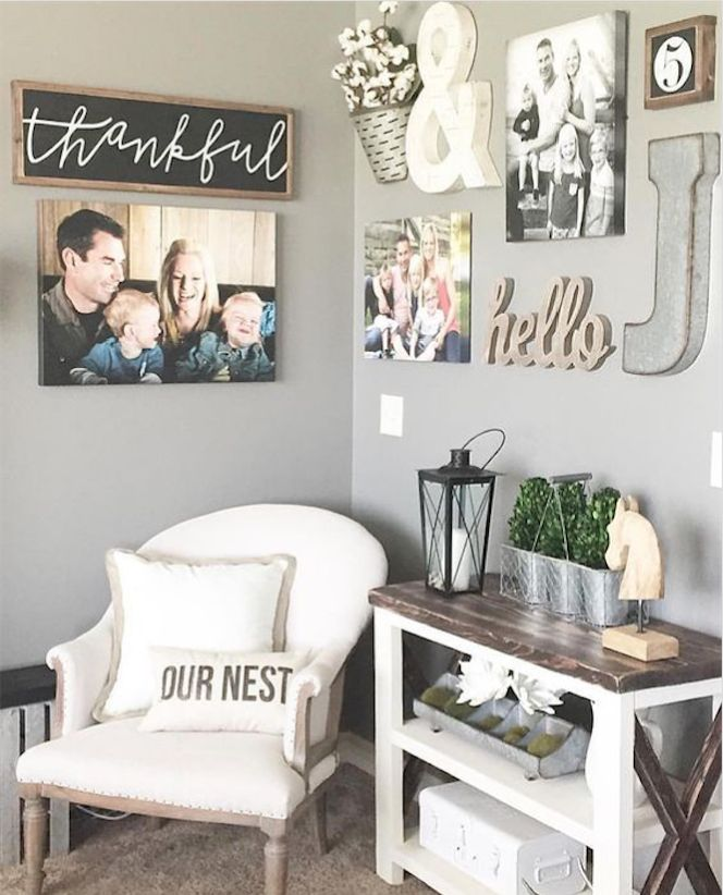 As a general rule, hang artwork so that the center point of the piece or grouping is at approximately eye level; think of groupings as a single unit