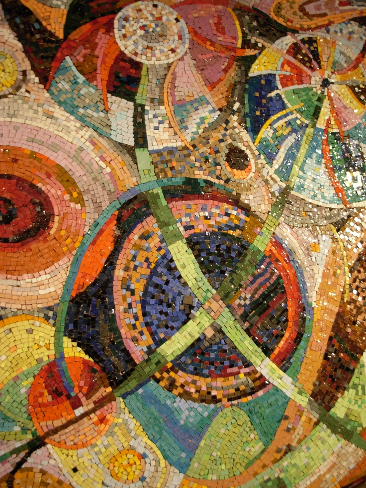 The Exploding Universe, Mosaic by Gabriella Poloney-Mountain.  Photo by Wayne Stratz.