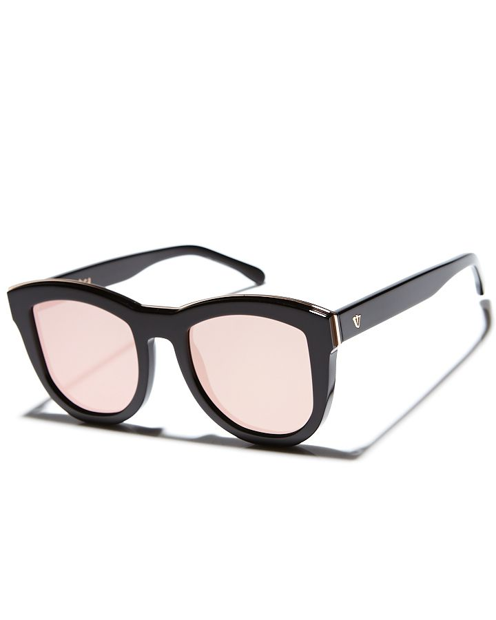 VALLEY TRACHEA BLKND COLLECTION SUNGLASSES - GLOSS BLK ROSE GLD