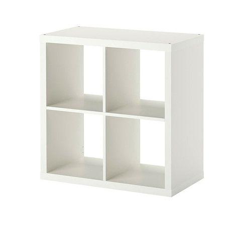 Ikea mueble de 4 espacios blanco mate bebe for Mueble ikea cuadrados