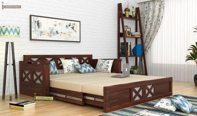 Medway #Convertible #Couch #Walnut Finish #sofacumbed #Kochi #Mumbai #Noida #Pune #Vishakhapatnam #sofaset #Ghaziabad #Goa #Gurgaon #Hyderabad #Jaipur #Bangalore #Chennai #sofas #Coimbatore #Delhi #Faridabad