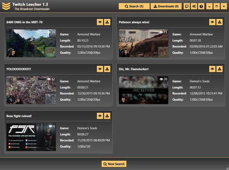 Easily Download Your Favourite Twitch Streams With Twitch Leecher #Twitch #TwitchLeecher