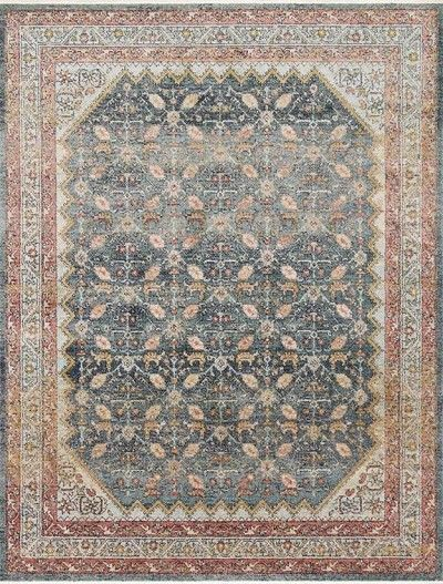Graham GRA-01 Blue/Persimmon Area Rug – Magnolia Home by Joanna Gaines