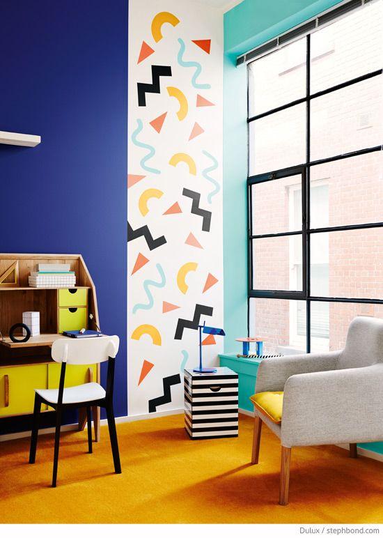 Bondville: Memphis style - the Eighties shape confetti interiors trend