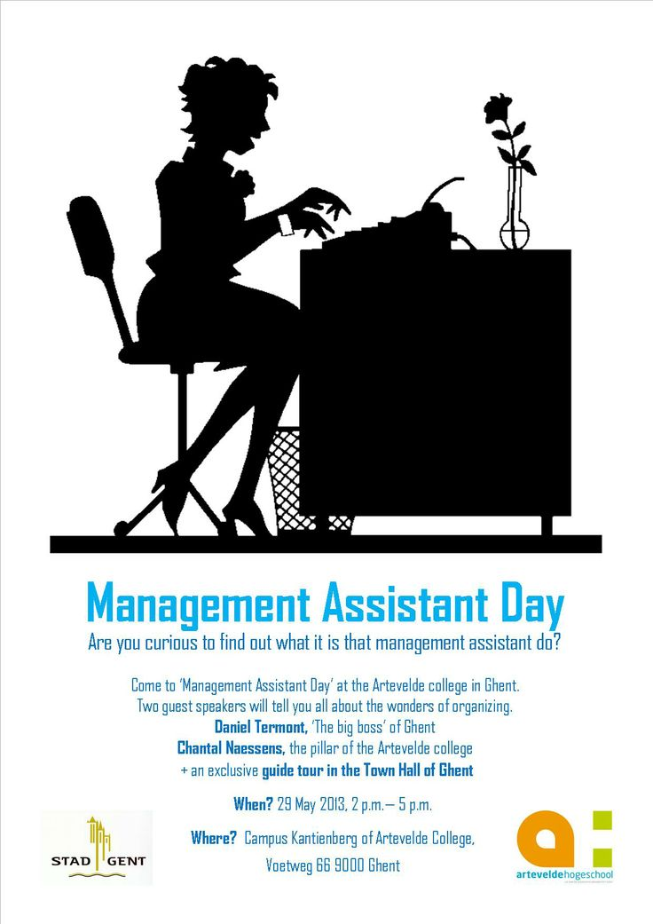 Flyer Management Assistant Day Campaign Engels School