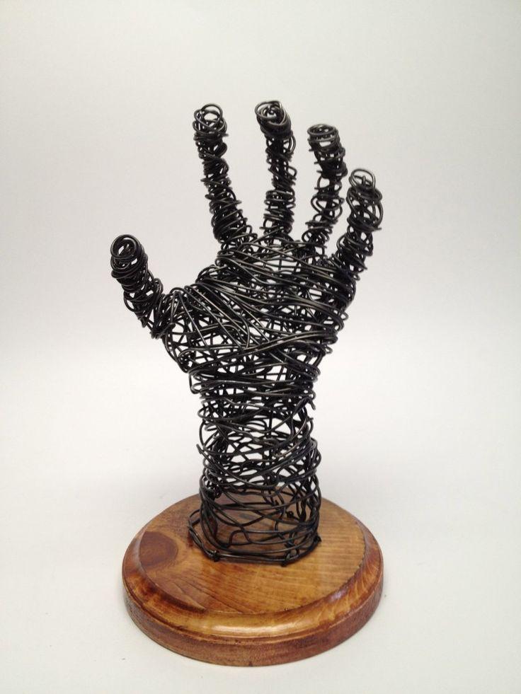 sculptures of hands | Wire Sculpture Hand - Frank Marino Baker - Wire Art | Frank Marino ...