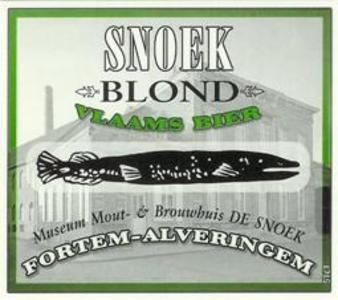 Snoek Blond - Bierebel.com, la référence des bières belges