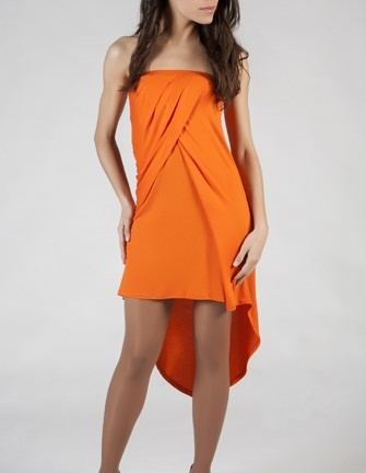 Fluor orange dress Vestido naranja fluor www.bogavalentia.com