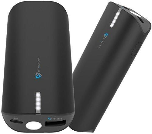 Stalion SVR-S6-6000-BLK Saver S6 6800mAh Power Bank External Battery Backup Travel Pack with Micro USB Cable for Smartphones & Tablets Jet Black