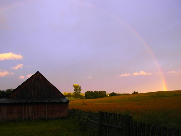 Tęcza nad Lisią Górą / Rainbow over Fox Mountain #countryside