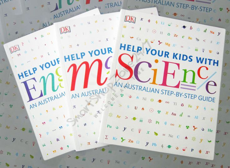 Help your kids with HOMEWORK English Math Science Step-by-Step Guide 3 books NEW $52.99